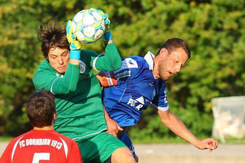 Beim FC Dornbirn gibt der 19-jährige Torhüter Marc Gabrielli sein Debüt gegen Wackers Amateure. hofmeister