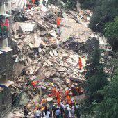 16 Vermisste nach Hauseinsturz in China