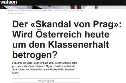 """Das Schweizer Internetportal """"Watson"""" ahnte, wie es für Österreich laufen könnte."""
