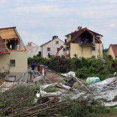 Schwaben: Aufräumen nach dem Tornado