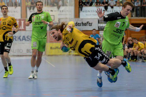 Der Schwede Tobias Warvne wurde verdient als Spieler des Abends ausgezeichnet. Foto: gepa