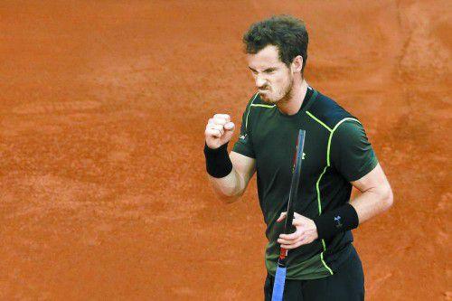 Der Sieger gibt sich grimmig: Andy Murray. Foto: apa