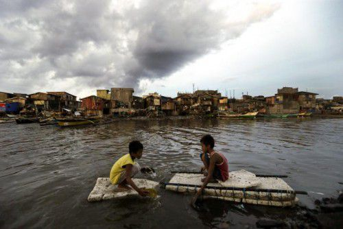 Der Taifun hatte Spitzengeschwindigkeiten von 220 km/h. Foto: EPA
