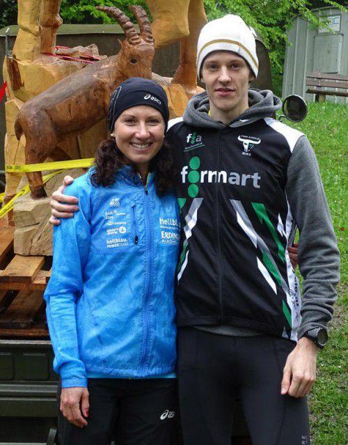Die Landesschnellsten: Sabine Reiner und Jakob Mayer. Privat