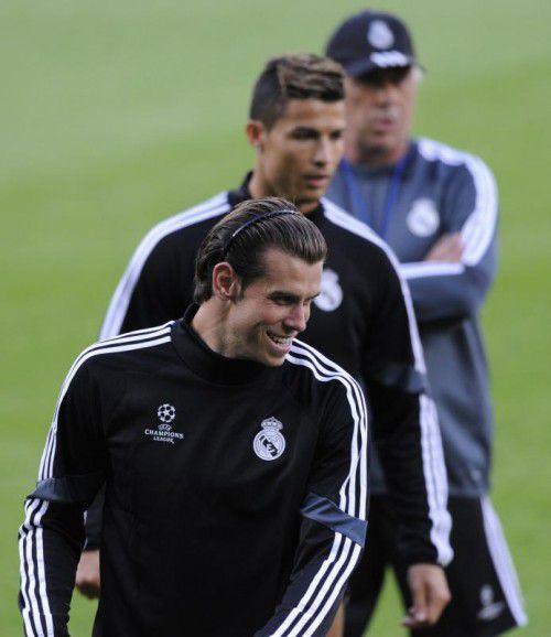 Die Real-Stars Gareth Bale (v.) und Cristiano Ronaldo. Foto: Reuters