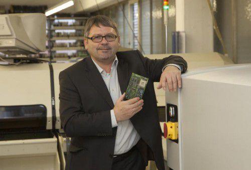 Dietmar Alge ist geschäftsführender Gesellschafter der Alge Electronic GmbH.  Foto: VN/Paulitsch