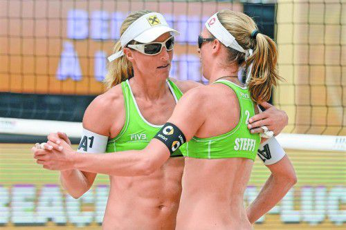 Dürfen feiern: Barbara Hansel (l.) und Stefanie Schwaiger. Foto: apa