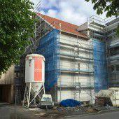 Sanierung des Altbaus vor Fertigstellung