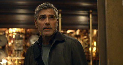 George Clooney landet als frustrierter Wissenschaftler in der Zukunft. Foto: Walt Disney