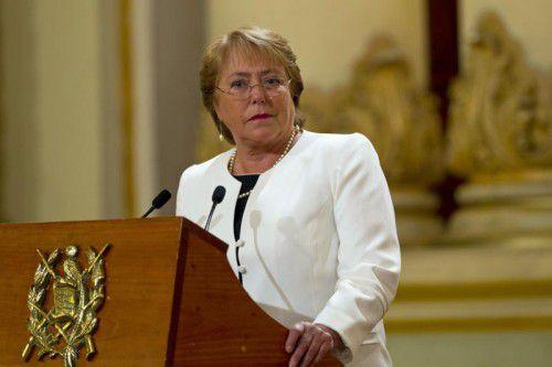 Hat nur noch 31 Prozent Zustimmung: Michelle Bachelet.  AP
