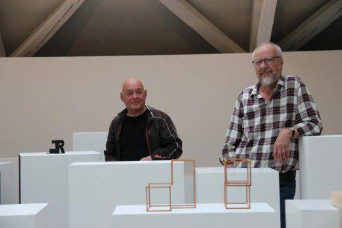 Hubert Lampert und Franz Türtscher: Ihre Arbeiten liegen nicht allzu weit auseinander.  Foto: A. Grabher
