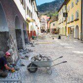 Straßenarbeiten in Bludenz