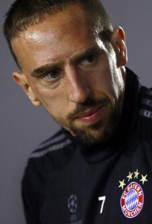 Ist auch schon über 30 Jahre alt: Bayerns Franck Ribéry. Foto: ap