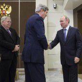 Kerry trifft Putin in Sotschi