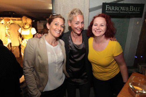 Karin Winder, Mia Radozzai und Christine Woger-Kaufmann (v. l.)