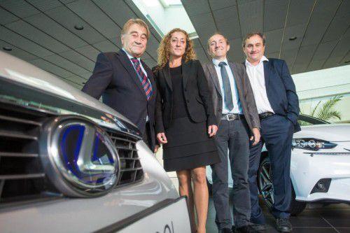 KMU-Unternehmer des Jahres Manfred Ellensohn (l.) hat die Nachfolge geregelt. Seine drei Kinder Layla, Ernst und Edgar arbeiten im Unternehmen.