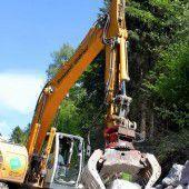 Bauarbeiten auf Raggaler Straße in vollem Gang