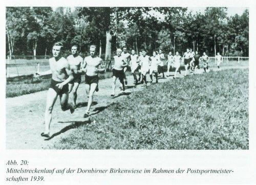 Mittelstreckenlauf der Postsportmeisterschaft 1939 in Dornbirn.
