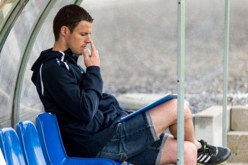 Nachdenklich nach der 0:3-Heimniederlage gegen St. Johann: Altach- Amateure-Cheftrainer Werner Grabherr. Foto: stiplovsek