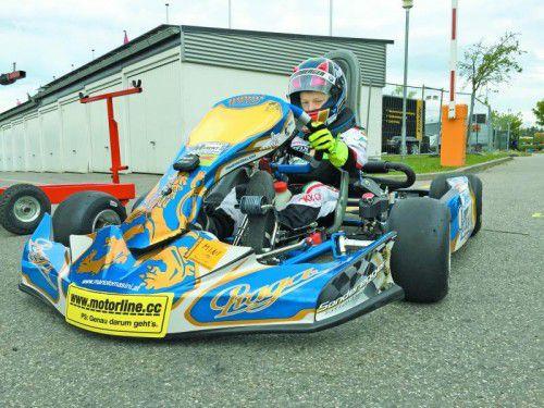 Neues Kart, neue Meisterschaft: Mario Tomasini startet heuer in der deutschen Rotax-Max-Challenge. Foto: privat