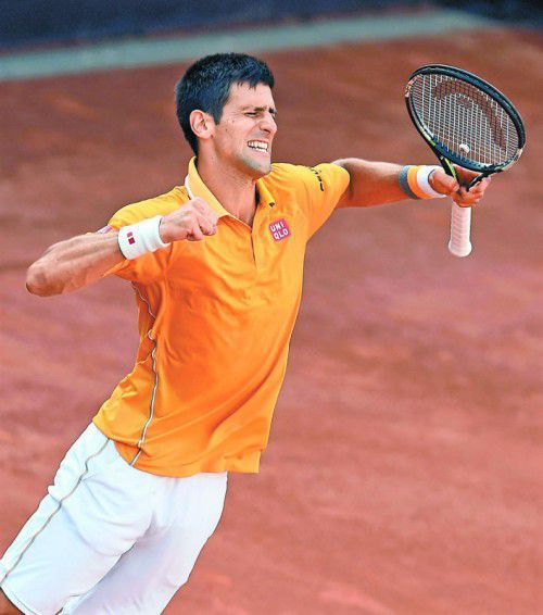 Novak Djokovic gewann zum vierten Mal in Rom. Foto: ap