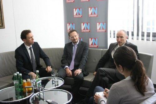 Peter Scherbaum (Standort Bregenz), Robert Karas und Christian Fegg. Foto: gms