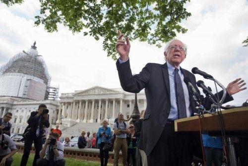 Sanders will ins Weiße Haus gewählt werden. FOTO: AP