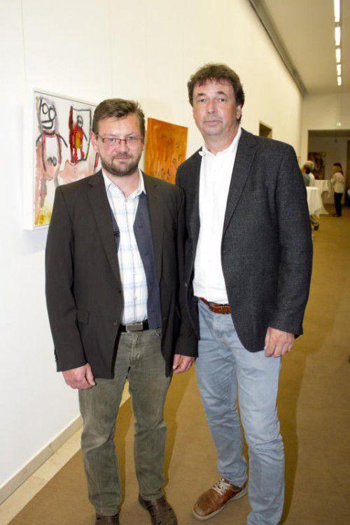 Selbstvertreter Richard Nägele (LHV) und Friedrich Gföllner (r.).