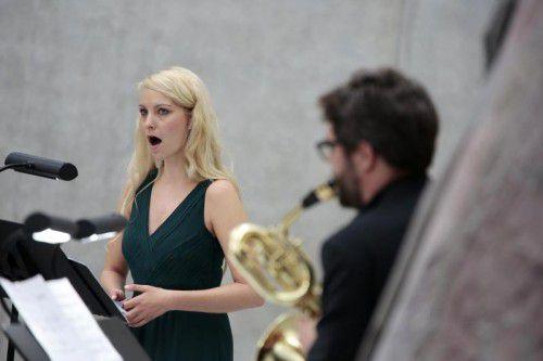 """Frauke Burg und Fabian Pablo Müller im """"Opernatelier""""."""