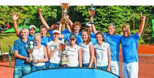 Sowohl die Damen des TC Dornbirn als auch die Herren des TC Altenstadt triumphierten in den letzten drei Saisonen. Dornbirn hält nun bei elf, Altenstadt bei neun Gesamtsiegen in der obersten Spielklasse. Foto: VN/Lerch