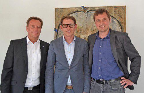 Spartenkonferenz Information und Consulting: v.l. Markus Salzgeber, Dieter Bitschnau und Wolfgang Pendl.  Foto: wkv