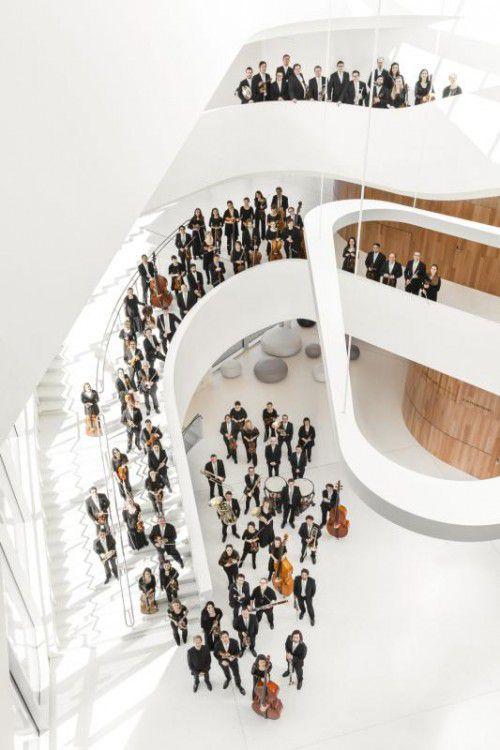 Symphonieorchester Vorarlberg spielt im neuen Montforthaus.