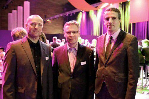 Vergangene Zeiten: Jürgen Oberhauser und Christoph Walch mit Messe-GF Daniel Mutschlechner.  Foto: Messe