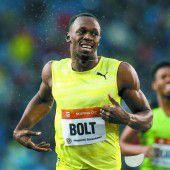 Ein glanzloser Sieg im Regen für Usain Bolt