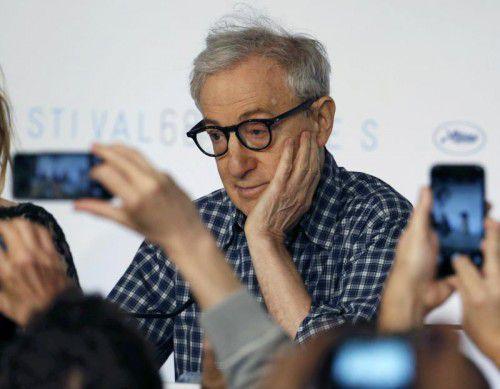 """Woody Allen stellte seinen Film """"Irrational Man"""" vor.  Reuters"""