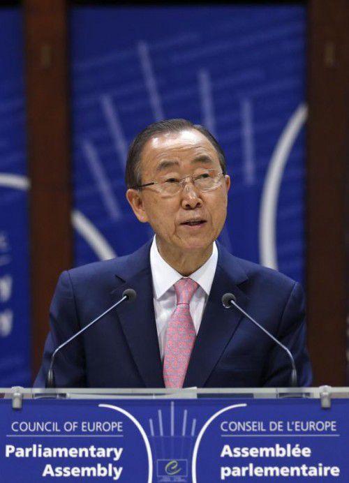 Ban Ki-moon rief zu mehr Solidarität in Europa auf.  FOTO: REUTERS
