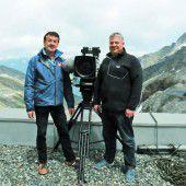 Arbeitsplatz am Dach der Tour de Suisse