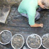 Historischer Fund   nach Wasserrohrbruch