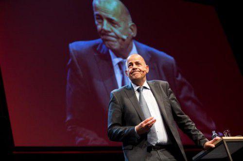 CEO Schumacher präsentierte gute Zahlen.  Foto: VN/Steurer
