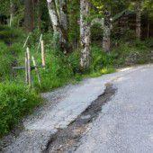 Straße am Schauner schnell repariert