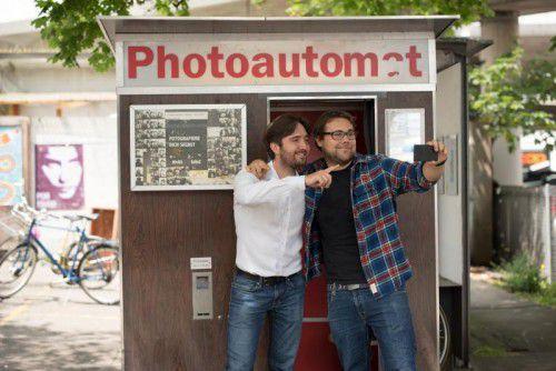 Der Koblacher Simon Heinzle und der Feldkircher Manuel Lang sind guter Dinge, mit ihrer Entwicklung zu überzeugen. Foto: Gimalon