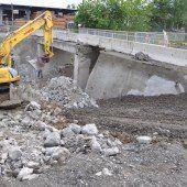 Am Bahnhof in Rankweil wird kräftig gebaut