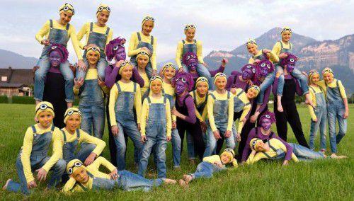 Elf Vorarlberger Turnerschaften mit 345 Aktiven zeigen am Samstag um 15 und 20 Uhr ihre Shows für die heurige Weltgymnaestrada in Helsinki. foto: vts/tsz dornbirn