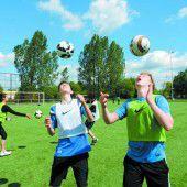 Fußballtraining in der Schule des CF Barcelona