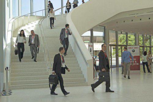 Etwa 200 Vertreter heimischer Firmen suchten das direkte Gespräch mit den Handelsdelegierten und besuchten die Workshops. Foto: WKV