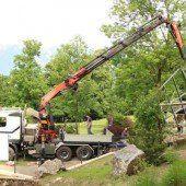 Lehrlinge bauen Wildparkgehege