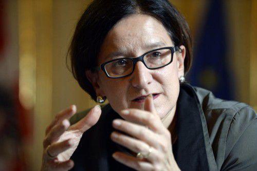 Innenministerin Mikl-Leitner kündigt Containerwohnungen für Asylwerber in Vorarlberg an. Foto: APA