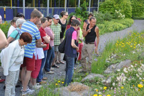 Lothar Schmidt erklärte die angesiedelte Vielfalt an Pflanzen.