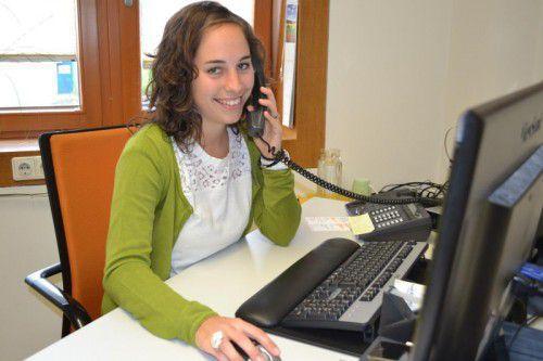 Manuela Loretz ist jetzt dort, wo sie hin wollte, und mit ganzer Freude bei ihrer neuen Tätigkeit. Foto: Caritas