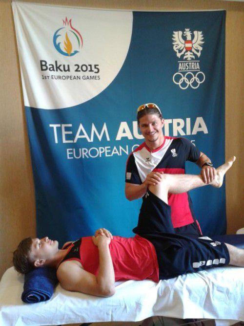 Marc Sohm ist bei den Europaspielen in Baku erstmals als Teamarzt für das Österreichische Olympische Komitee tätig.  foto: öoc